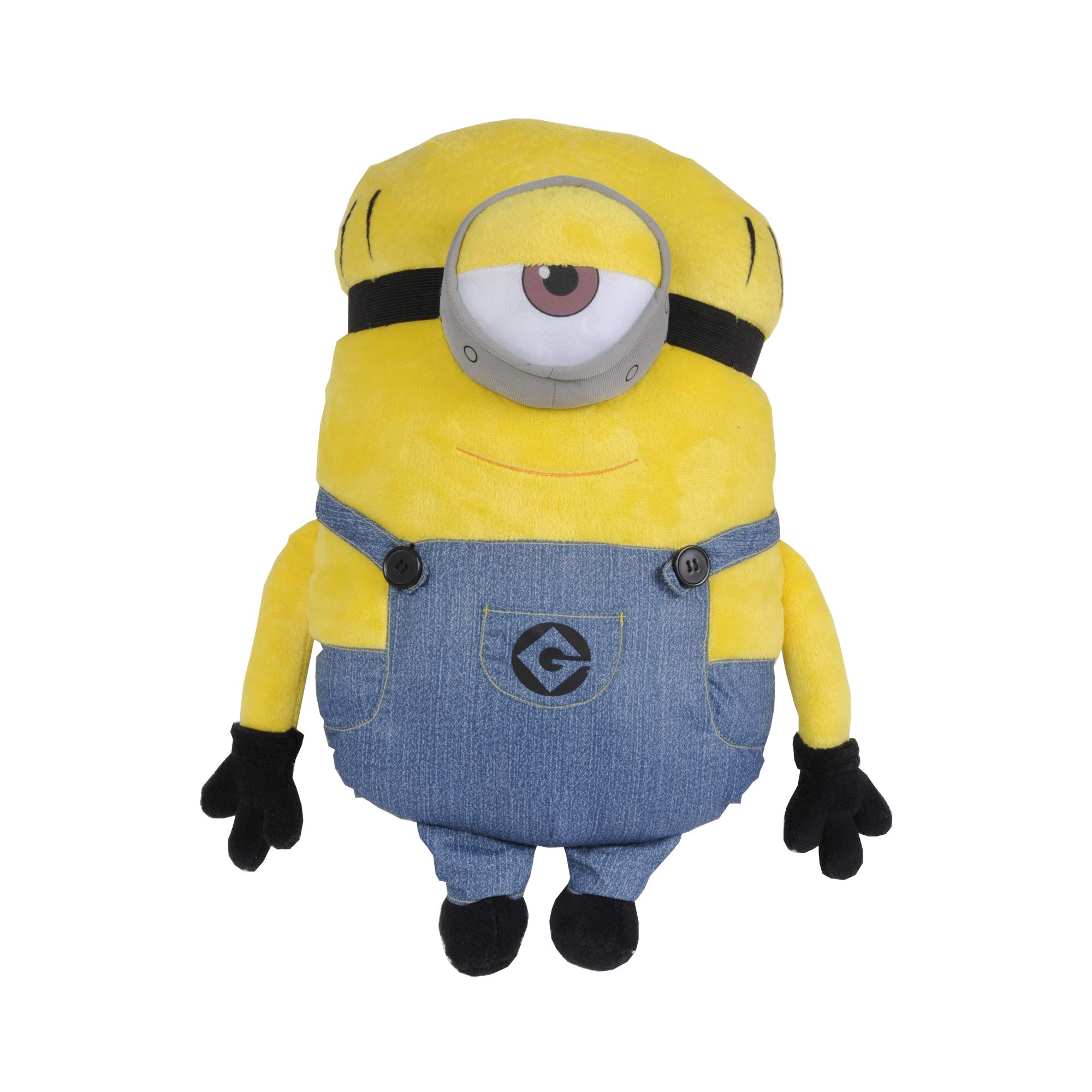 Universal Despicable Me Minions Mel Character Shaped Soft Plush Cuddle Pillow, Yellow