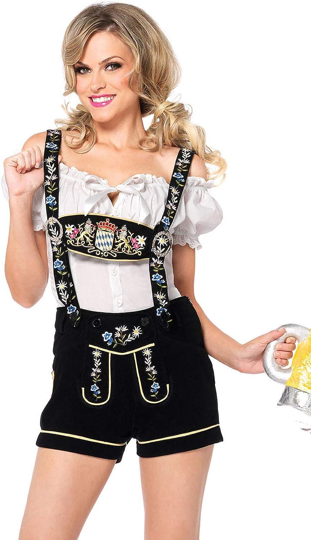 Leg Avenue Women's 2 Piece Edelweiss Lederhosen Oktoberfest Costume