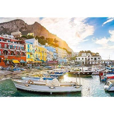 Kkxka Coastal Village Landscape Capri Italy Jigsaw Puzzle Collection(1000 Pieces): Toys & Games