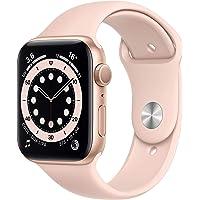 Apple Watch Series 6 (GPS, 44-mm) kast van goudkleurig aluminium - Rozenkwarts sportbandje