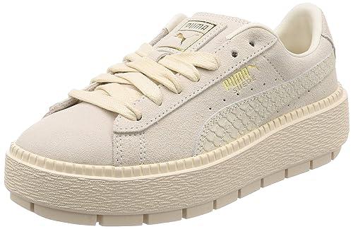 41bc6d9d085b PUMA Suede Platform Trace Animal Shoes Women White  Amazon.com.au ...