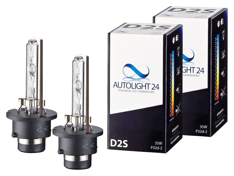 2 x Xenon Brenner D2S 6000K TÜ V Ersatz Lampen Birnen E-Zulassung XD2 AutoLight24