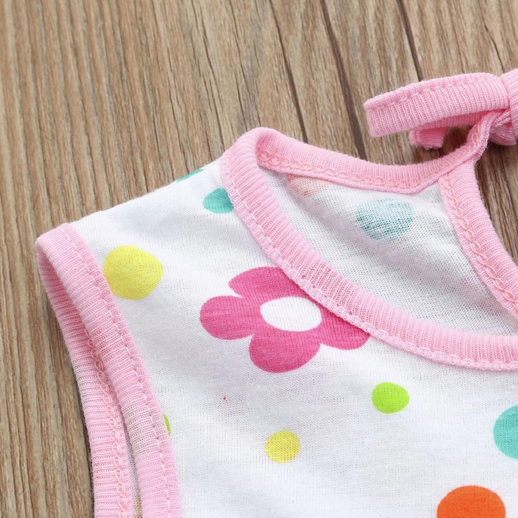 QUICKLYLY Ropa Bebe Recien Nacido Niña Verano de 0 a 3 Meses Sin mangas Vestidos Primavera