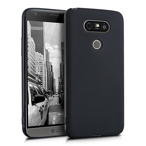 brand new 85847 21fb5 kwmobile TPU Silicone Case for LG G5 / G5 SE - Soft Flexible Shock  Absorbent Protective Phone Cover - Black Matte