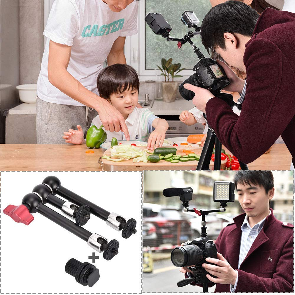 KAMTCHE Camera Arm. Adjustable Friction Power 3 Arms Articulating Magic Arm Tripod. Compatible with DSLR Camera Rig, LED Video Lights, Field Monitor and Flash Light, Microphones, LED & LCD Monitor by KAMTCHE