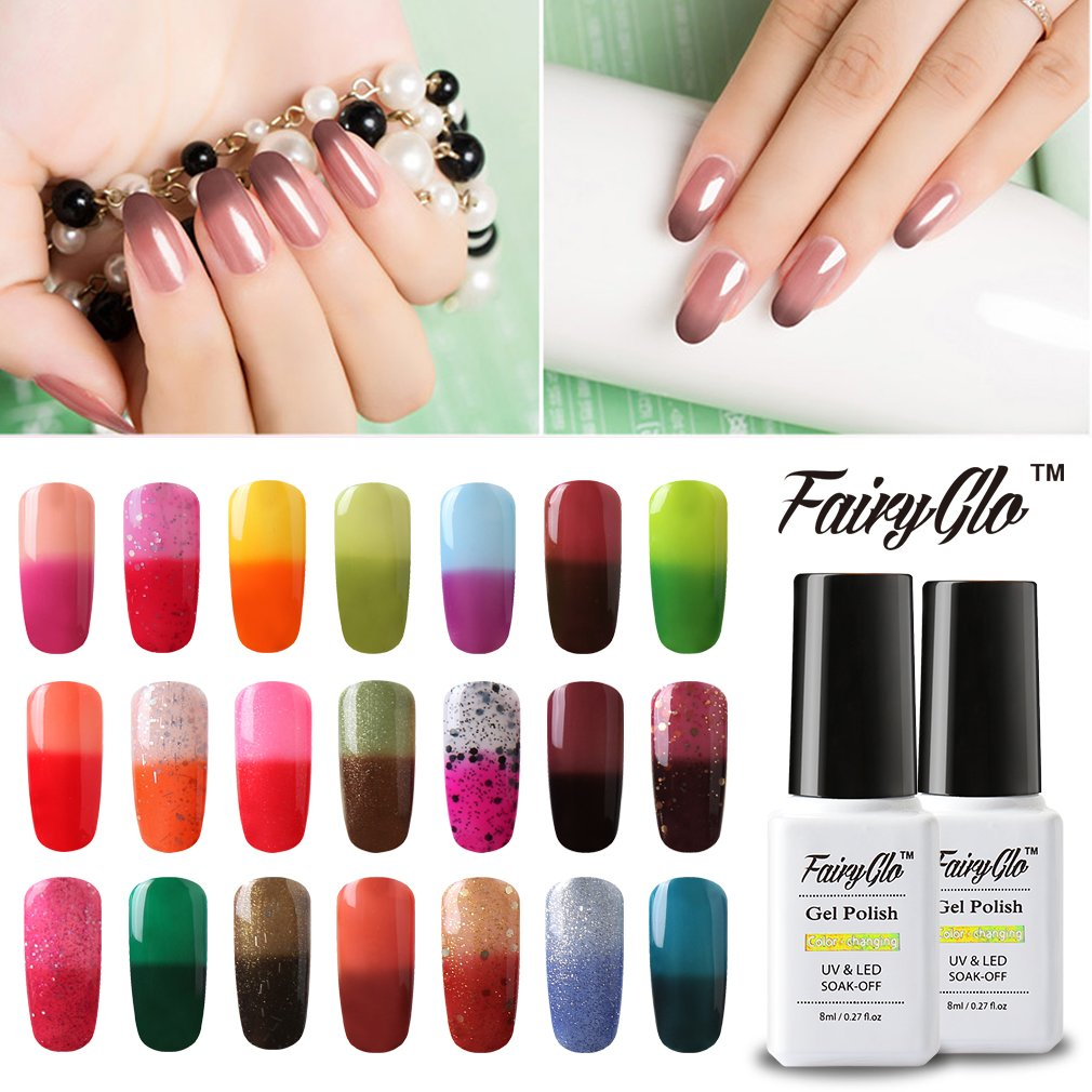 Amazon.com : Fairy Glo (Pick Any 3 Colors) Gel Nail Polish Soak Off ...