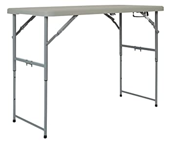 Office Star Resin Multipurpose Rectangle Table, 4 Feet Long, Height  Adjustable, Center