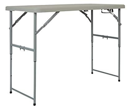 Office Star Resin Multipurpose Rectangle Table, 4 Feet Long, Height  Adjustable, Center
