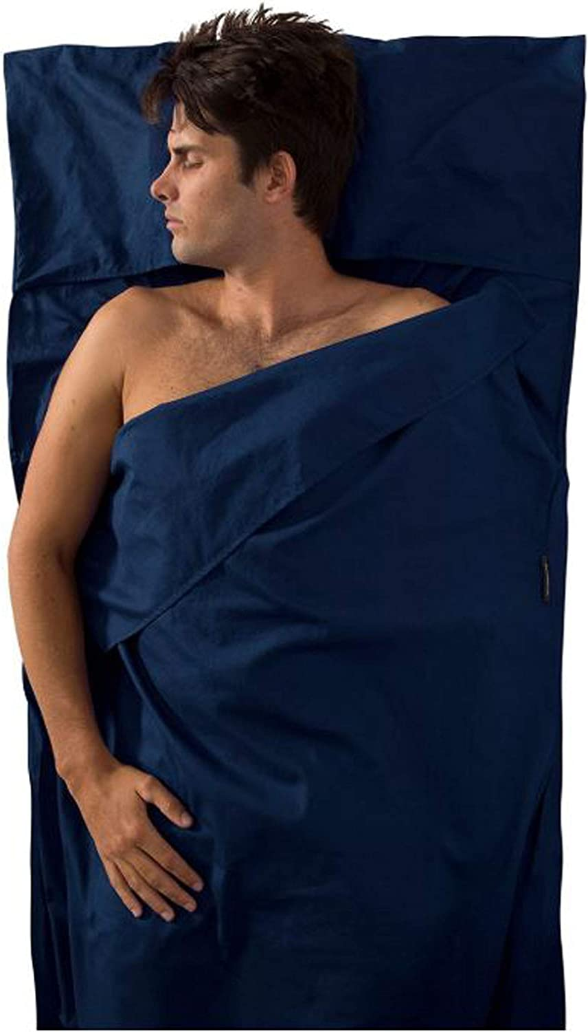Navy Traveller with Pillow Insert Sea to Summit Premium Cotton Travel Liner