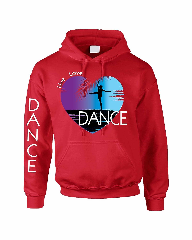 Allntrends Adult Hoodie Dance Art Purple Print Love Cute Top Nice Gift
