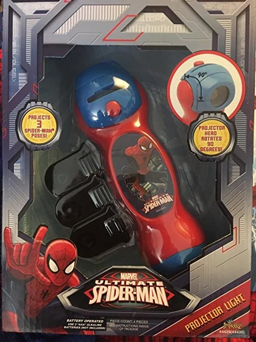 Amazon.com: Spider Man Bundle Spiderman Projector Light and Deluxe Spider-Man Kids Costume L 12-14 Halloween: Clothing