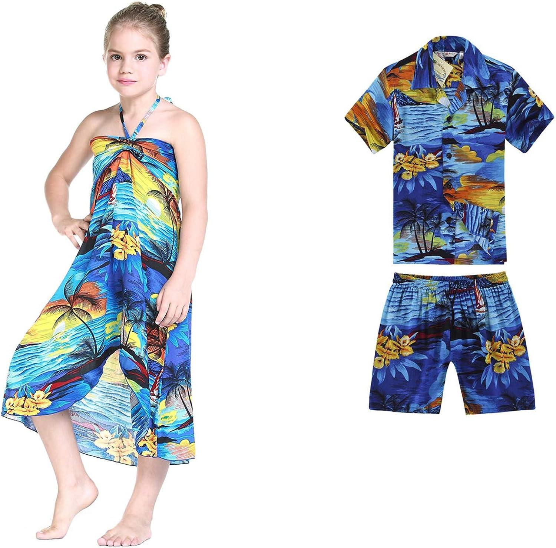 RJC Baby Girls Waimea Sunset Smocked Hawaiian 2 Piece Dress Set