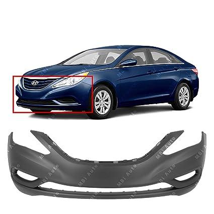 amazon com: mbi auto - primered, front bumper cover fascia for 2011 2012  2013 hyundai sonata 11-13, hy1000183: automotive