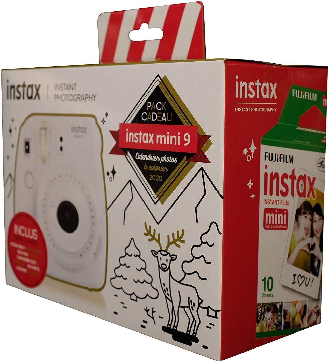 Pack Regalo Calendario de Fotos 2020 para Colorear, Incluye 1 Instax Mini 9 Blanco Ceniza, 1 Paquete de película Mini 10 Vistas, 1 Calendario para Colorear 2020 y 1 Funda de 4 rotuladores de Colores.: Amazon.es: Electrónica
