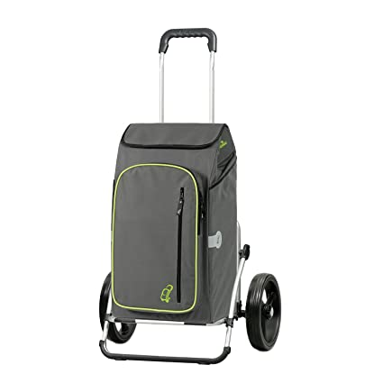 Andersen Carro de compra Royal XXL con bolsa Toto gris, volumen 56L, compartimento termico