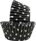 Regency Wraps Greaseproof Baking Cups, Black Polka Dots, 40 Count, Standard.