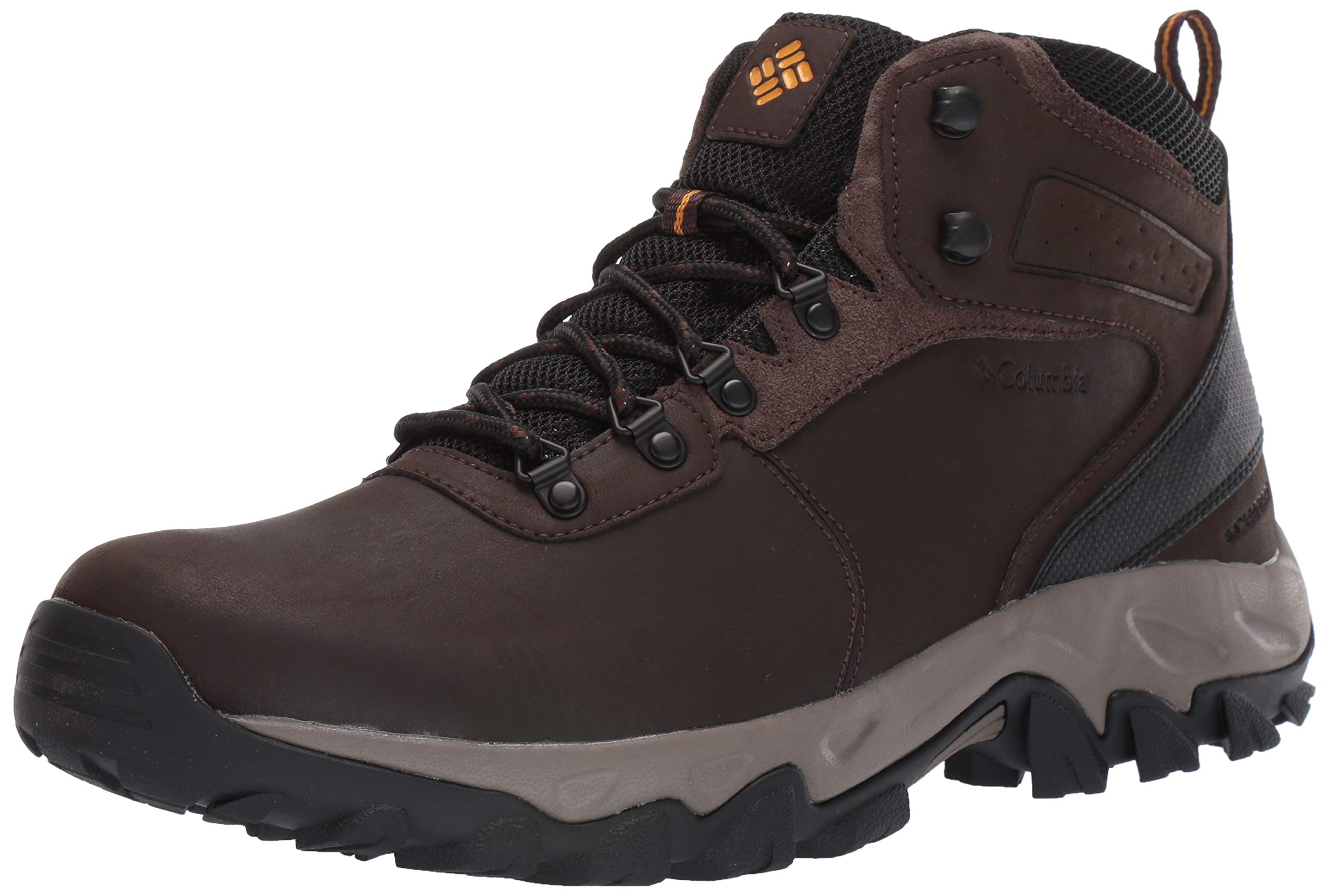 Columbia Men's Newton Ridge Plus II Waterproof Hiking Boot, Cordovan, Squash, 7 Regular US