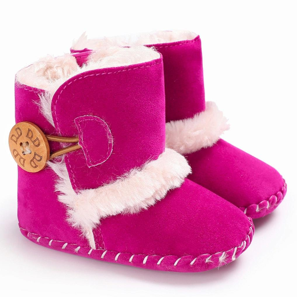 FORESTIME Cute Boy Girls Baby Soft Sole Snow Boots Worm Soft Crib Shoes Toddler Boots