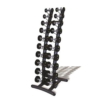 Mancuernas vertical estante 10 pares de mancuernas con PU (1 kg de 10 kg): Amazon.es: Deportes y aire libre