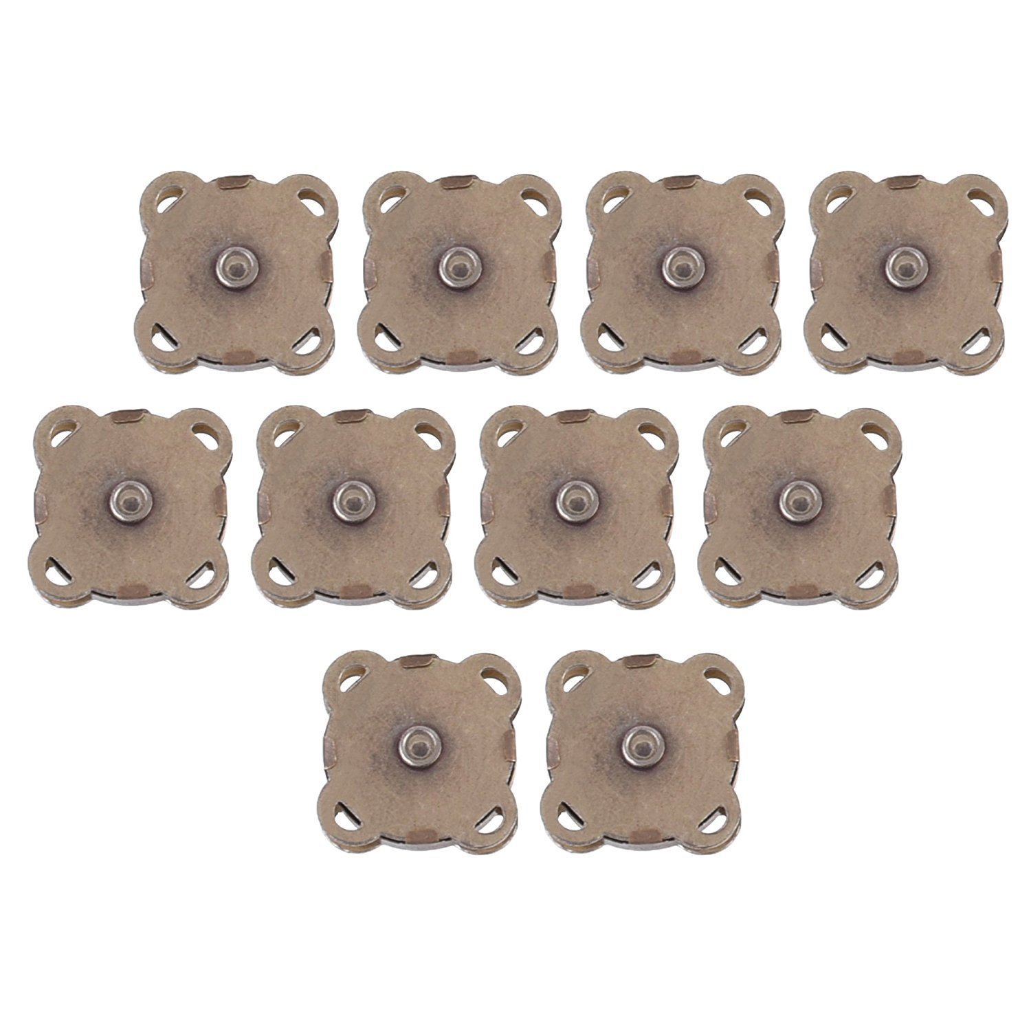 Clasps Snaps Bronze Great for Sewing Craft Clothing Bag BCP 10 Sets 18mm Sew in Magnetic Bag Clasps Plum Blossom Bag Button