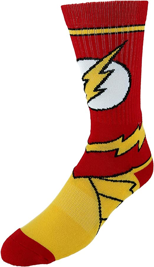 The Flash Superhero Socks Superhero Tube Socks DC Comics Present Cool Fandom Socks The Flash Socks Gift| Superhero Gift