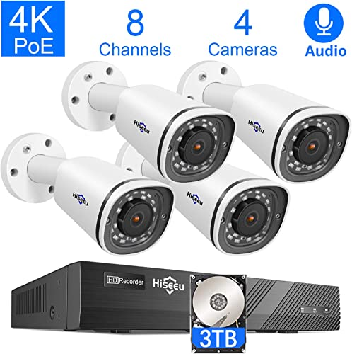Hiseeu 4K PoE Security Camera System