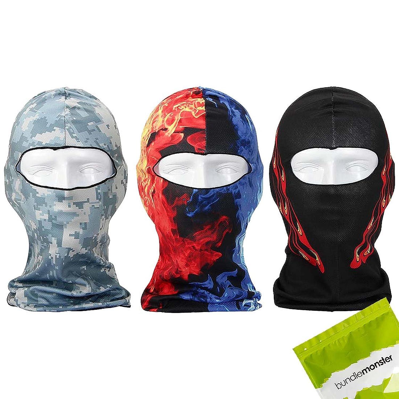 Bundle Monster 3 teile Leicht Atmungsaktiv Wind UV Schützend Gesichts Maske Balaclava