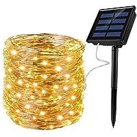 Ankway Luces Solares Cadena, Guirnalda de Luces 200 LEDs 22M 72FT Impermeable para…