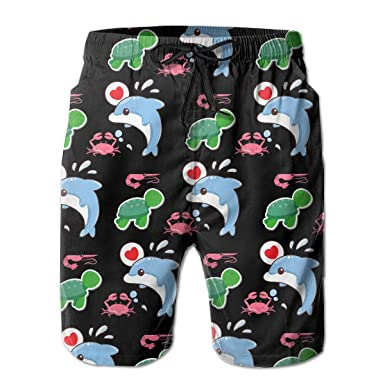 Beautiful Dolphin Fish Summer Casual Style Adjustable Beach Home Sport Shorts