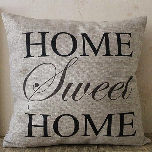 Home Sweet Home funda de almohada, blingbox 2017 cuadrado ...