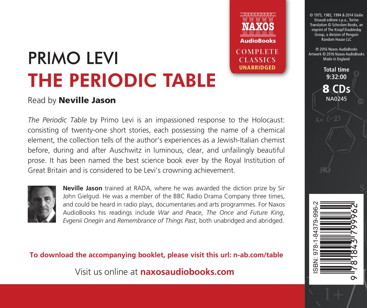 The periodic table primo levi 9781843799962 amazon books gamestrikefo Gallery