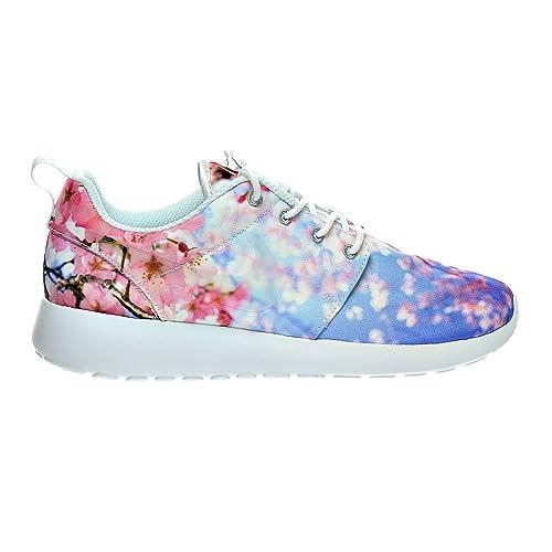 a88e35e191d5 NIKE Roshe One Cherry BLS Women s Shoes White Pure Platinum 819960-100
