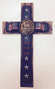 """United States Army 12"""" Wall Cross"""