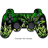 Adesivi per PS3 Controller Decalcomania Playstation 3 - Sony DualShock Wireless Controllore Sixaxis Gioco Sticker Skins - Weeds Black [Controller Non Incluso]