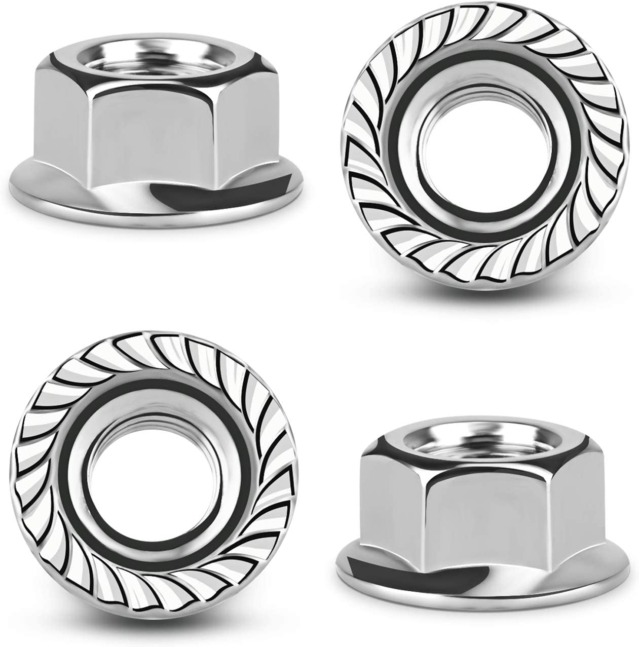 M5,M6,M8,M10 Electrical Equipment Micgeek 30 pcs Hex Flange Nut Fine,Thread Hexagonal,Stainless Steel Flange Hex Nut for Mechanical Equipment Electronic Products