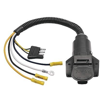 Amazon.com: Reese 20321 Adapter/Connector 4-Flat to 7: Automotive on 7 way cable, 7 rv plug diagram, 7 way plug diagram, 7 way connector diagram, 7 pole trailer plug diagram, 3 way light switch diagram, 7 pin trailer connector diagram,