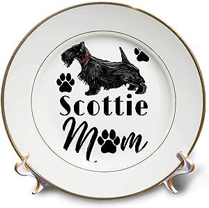 3dRose Macdonald Creative Studios – Scottish Terrier - A Scottish Terrier for Dog Lovers and Scottie Dog Moms - 8 inch Porcelain Plate (cp_322579_1)