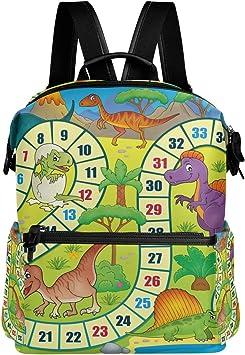 Mochila Mochila Divertido Animal Dibujos Animados Dinosaurio Juego de Mesa Viaje Guardería Escuela para Adolescentes Niños Niñas: Amazon.es: Equipaje