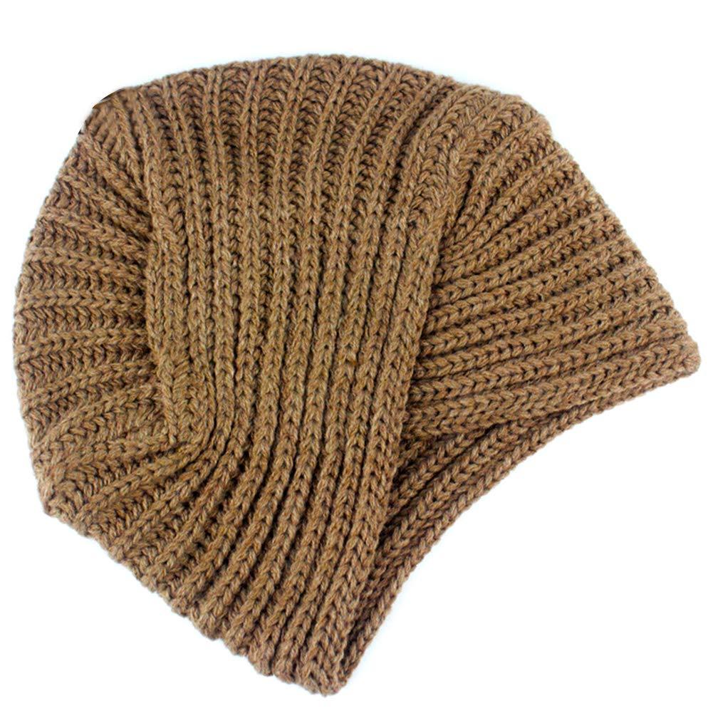 Ssowun Gorro de Punto de Lana Sombrero Knit Turbante Indio para Mujer  Invierno  Amazon.es  Deportes y aire libre f0378dc9ded
