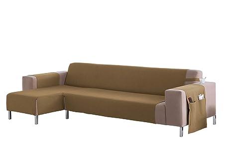Martina Home Cubre sofá Chaise longue modelo Betta - Tela - Brazo izquierdo - color Beige - medida 240 cm ancho.