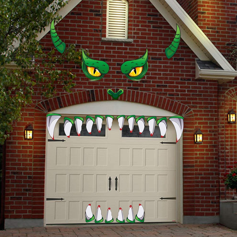 Halloween Monster Face Decorations Outdoor Garage Archway Door Window Car Halloween Party Decoration