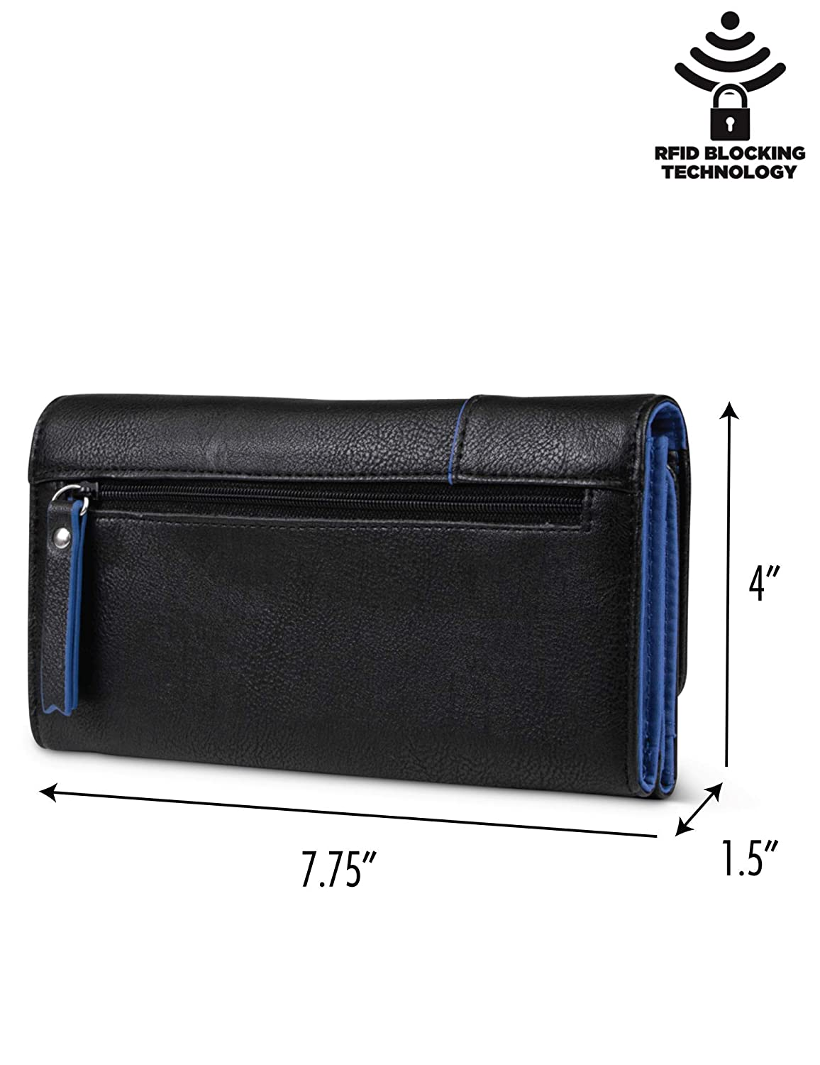 Nautica Money Manager RFID Womens Wallet Clutch Organizer