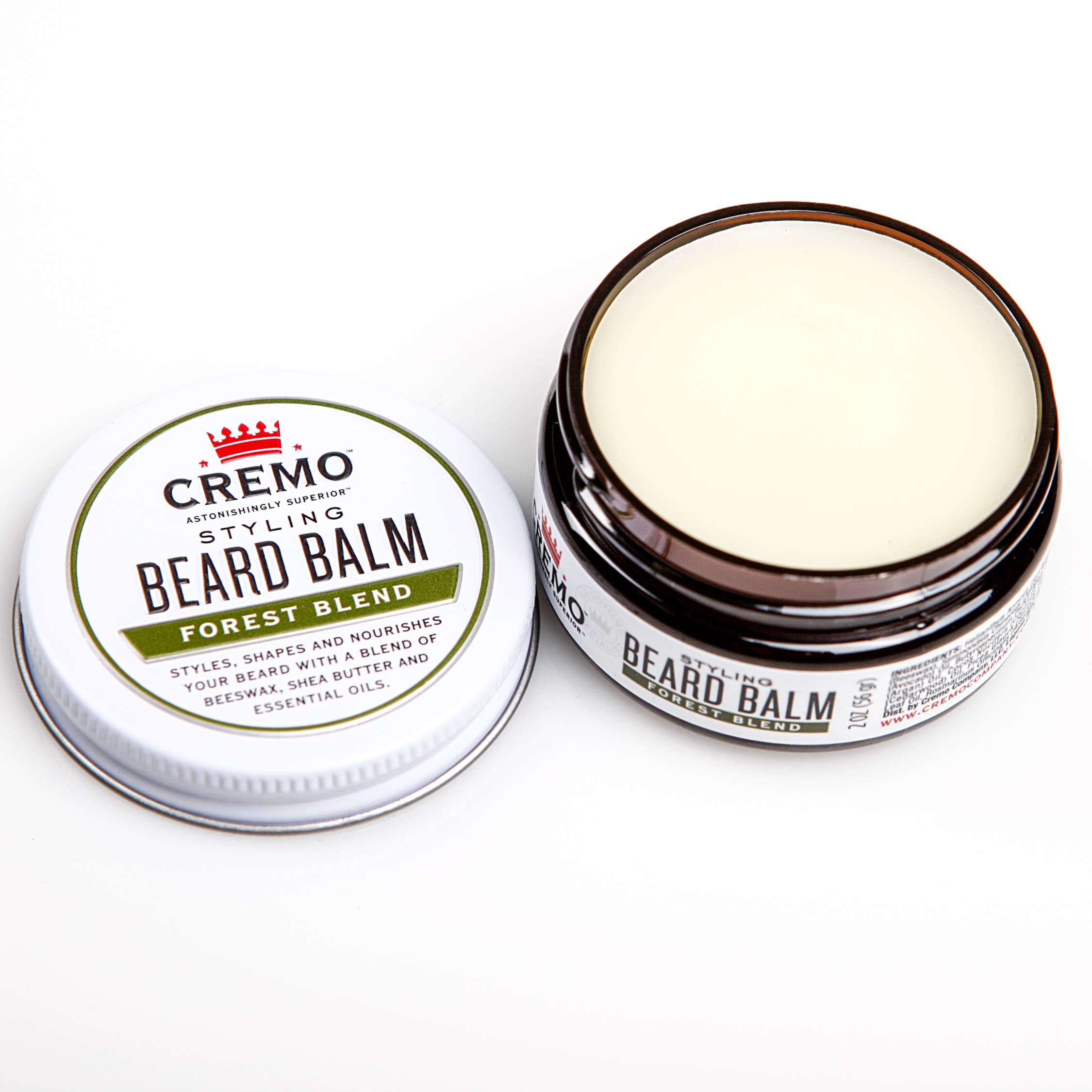 Cremo Styling Beard Balm, Forest Blend -- Nourishes, Shapes