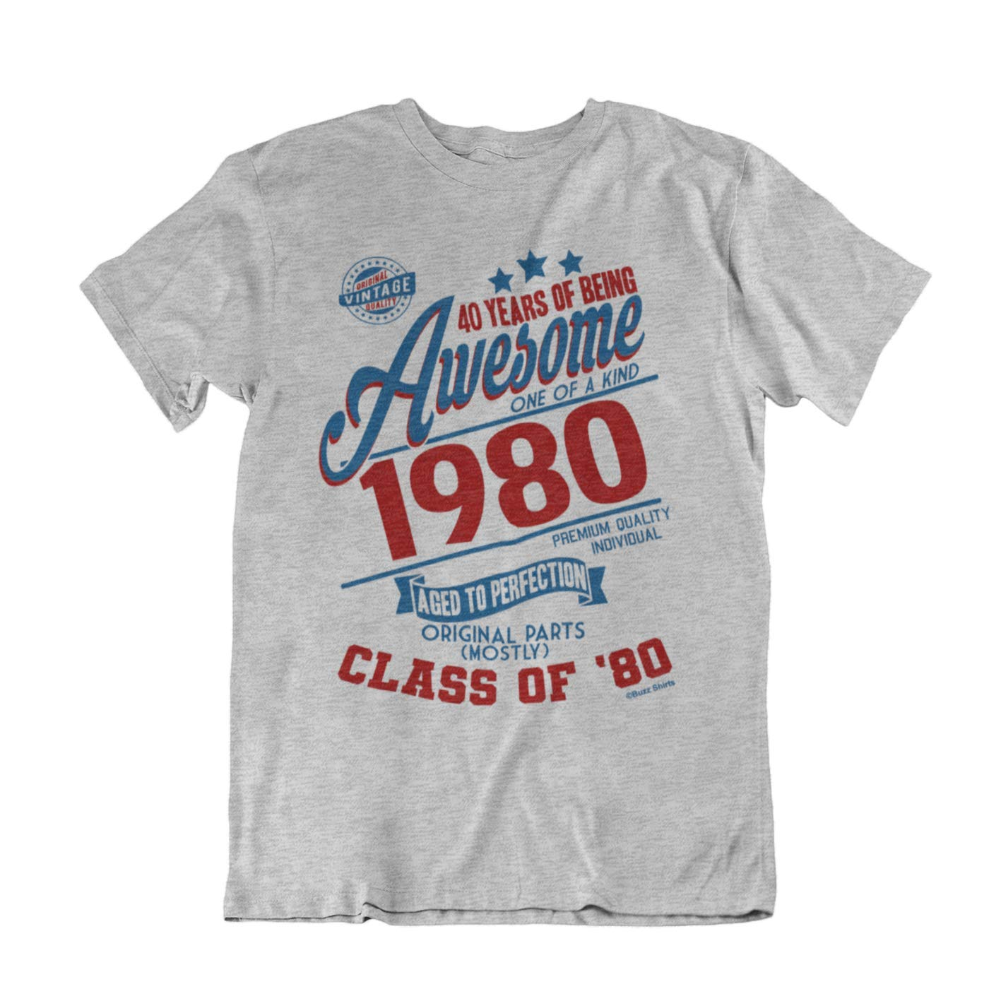 Buzz Camisetas para Hombre de cumpleaños T-Shirt 40 Years of Being Awesome 1979 Aged To Perfection Class of 79
