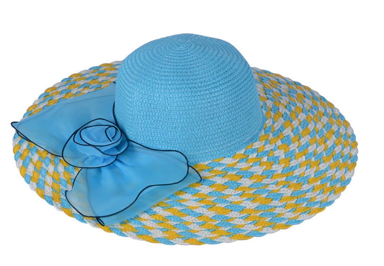 ... TYGRR 5PCS Estate Cappello Di La Paglia La Di Signora Grande Cappello A Tesa  Sole Cappello 835f2dff056a