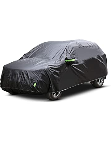 Pujuas Funda para Coche Cubierta Coche SUV Exterior Impermeable Negro (4.8 x 1.9 x 1.8