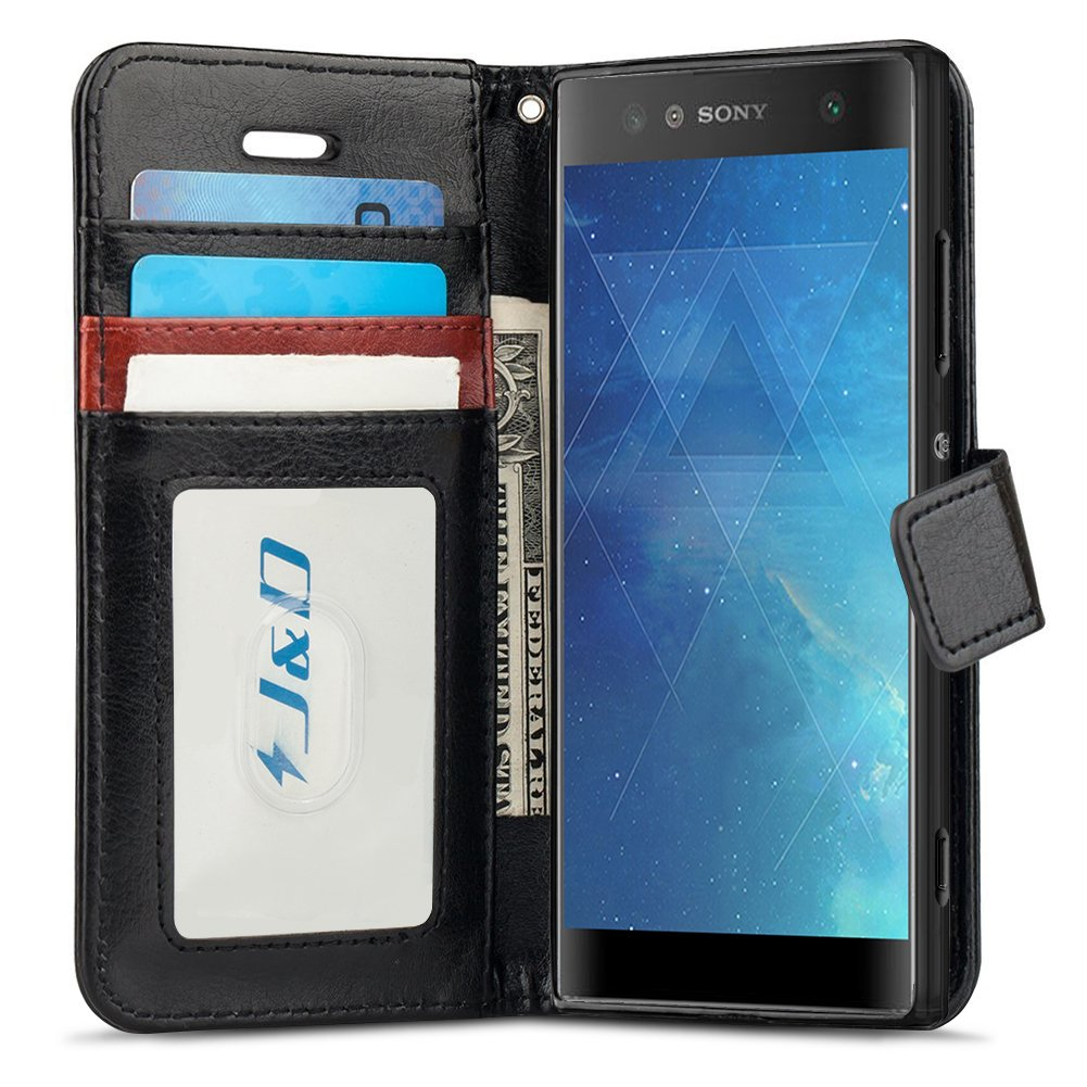 buy popular 9d94a 6088d J&D Case Compatible for Xperia XA2 Ultra Case, [Wallet Stand] [Slim Fit]  Heavy Duty Shock Resistant Flip Cover Wallet Case for Sony Xperia XA2 Ultra  ...