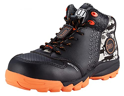 5ac6c536534 DDTX Men's Lightweight Metal Free Toe Penetration Resistant Midsole Work  Boots Ankle High Safety Shoes Black US4.5-13