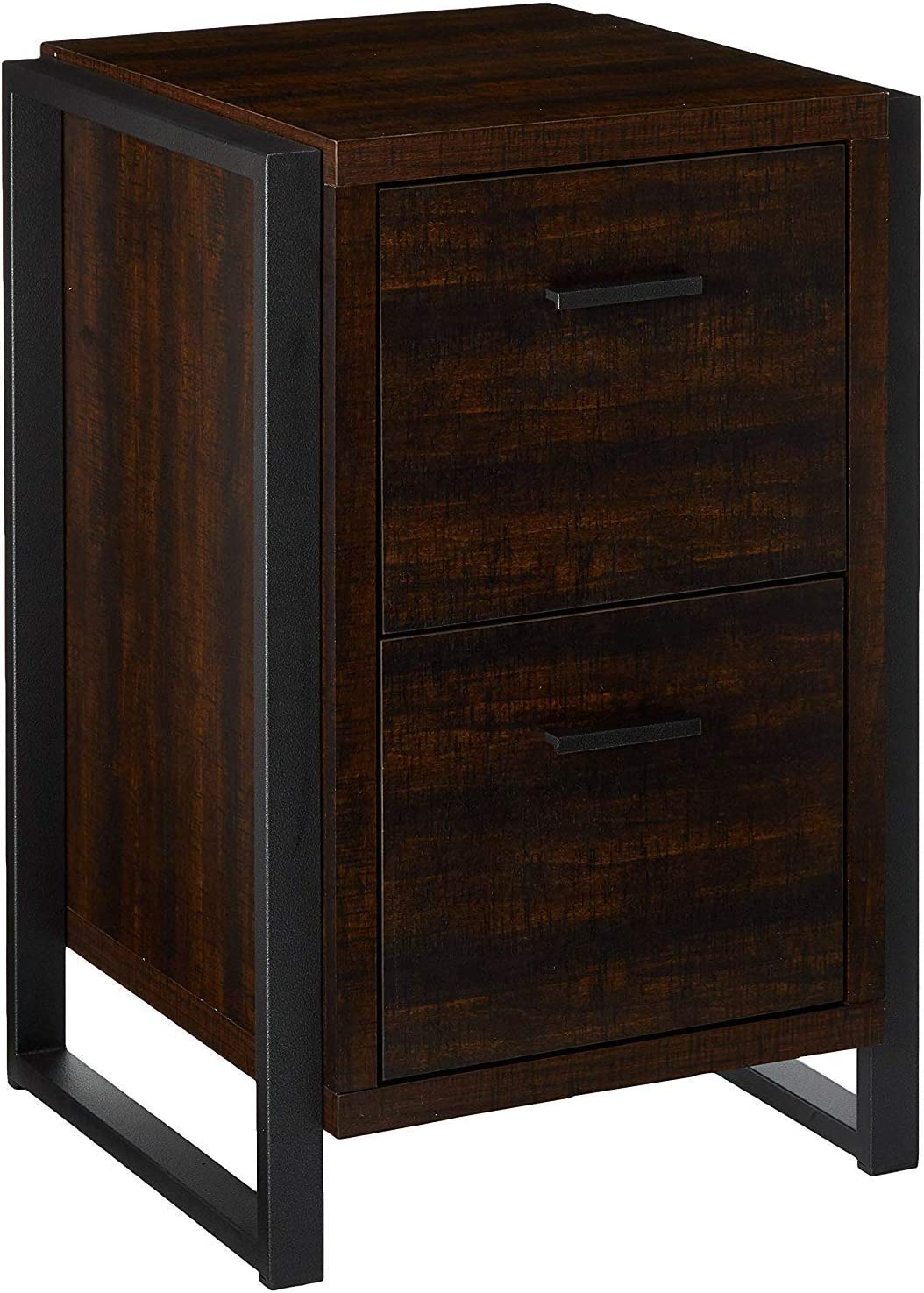 Offex Home Office 2 Drawer Vertical File Storage Cabinet Dark Chocolate 19.7W x 19.7D x 30H YD-OF-5134