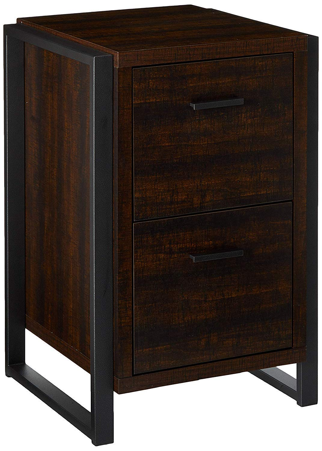 Offex Home Office 2 Drawer Vertical File Storage Cabinet - Dark Chocolate , 19.7''W x 19.7''D x 30''H - YD-OF-5134